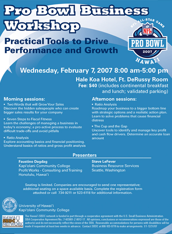Pro Bowl Business Workshop